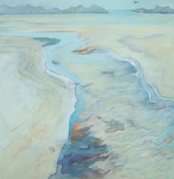 flowing into the ocean  acrylic on canvas